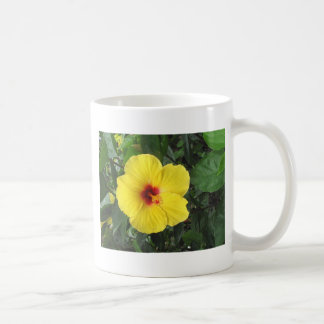 Yellow Hibiscus Plant Art Items Coffee Mug