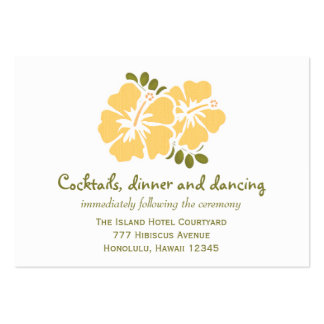 Yellow Hibiscus Reception Enclosure Cards Business Cards
