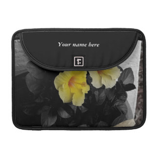 Yellow Hibiscus selective color Sleeve For MacBook Pro
