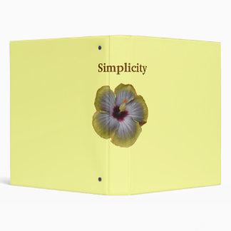 yellow hibiscus Simplicity Binder