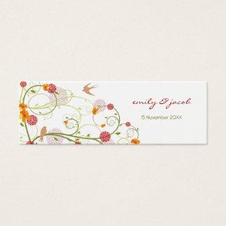 Yellow Hibiscus Swirls & Swallows TQ / Gift Tag