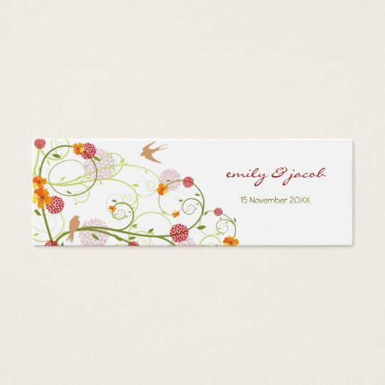 Yellow Hibiscus Swirls & Swallows TQ / Gift Tag