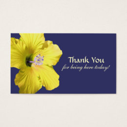 Yellow Hibiscus Thank You Favor Tags