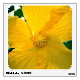 Yellow Hibiscus Wall Sticker