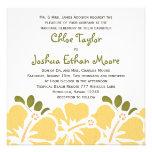 Yellow Hibiscus Wedding Invitations