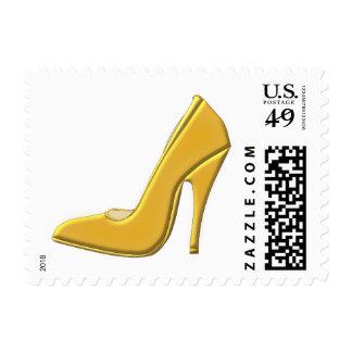Yellow High Heel Shoe Stamp