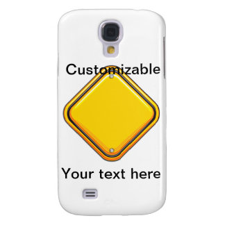 Yellow Highway Caution Sign Samsung S4 Case