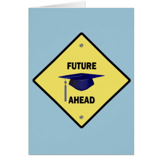 Yellow Highway Sign Future Ahead Card