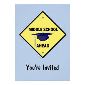 Yellow Highway Sign Graduation Middle School Card