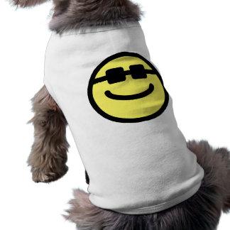 Yellow Hip Black Shades Smiley Face Dog Tee Shirt