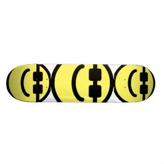 Yellow Hip Black Shades Smiley Face Skateboard