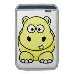 Yellow Hippo Case MacBook Sleeve