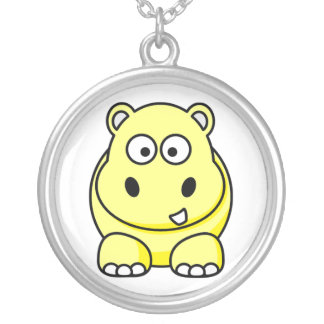 Yellow Hippo Necklace
