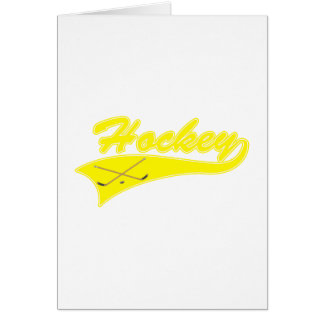 Yellow Hockey Logo Card
