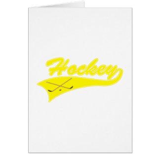 Yellow Hockey Logo Stationery Note Card