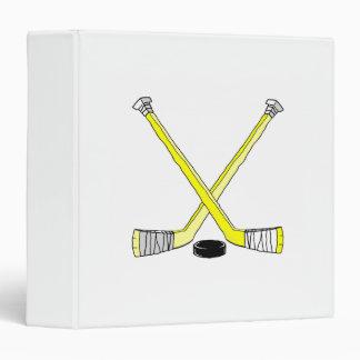 Yellow Hockey Sticks Binders