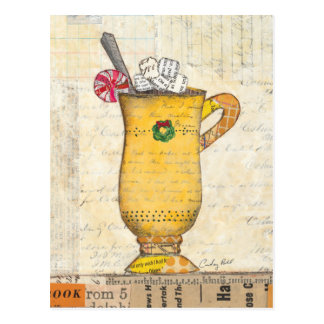 Yellow Holiday Cup Postcard