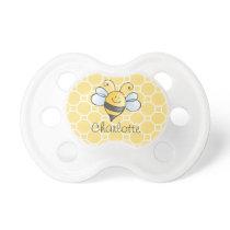 Yellow Honey Bee | Bumblebee Monogram Baby Pacifier