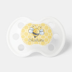 Yellow Honey Bee | Custom Baby Pacifier at Zazzle