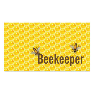 Yellow Honey Bees Beekeeper Business Card