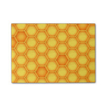 Yellow Honeycomb Pattern Post-it Notes