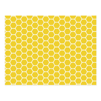 Yellow Honeycomb Postcard