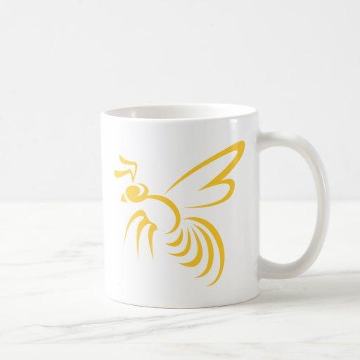 Yellow Hornet Logo Classic White Coffee Mug