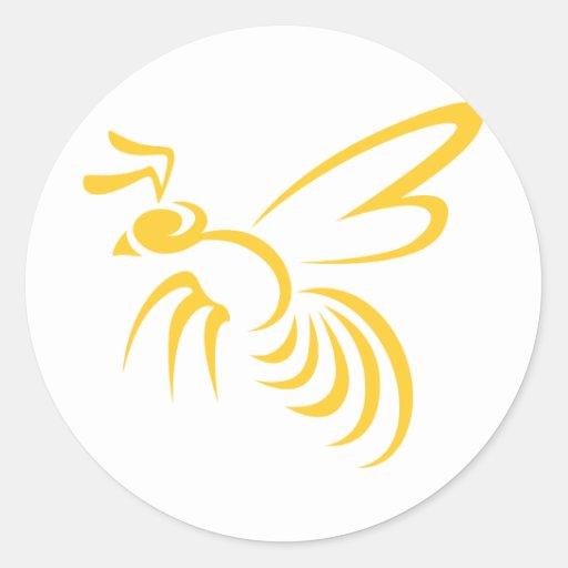 Yellow Hornet Logo Round Sticker