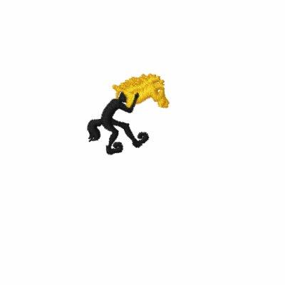 Jumping horse logo yellow