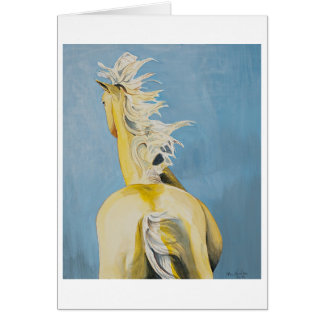 """""""Yellow Horse"""" greeting card"""