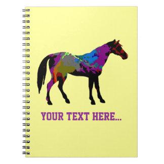 Yellow Horse Racing Design Notebook