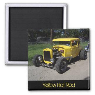 Yellow Hot Rod Magnet