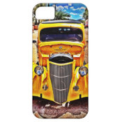 Yellow Hot Rod Muscle Car Grill iPhone 5 Case