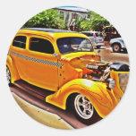 Yellow Hot Rod Stickers