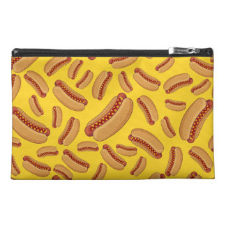 Yellow hotdogs travel accessories bag