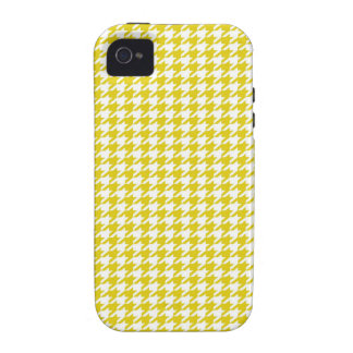 Yellow Houndstooth iPhone 4 Case