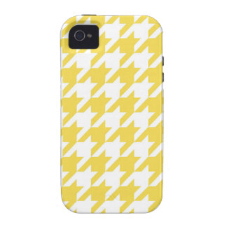 Yellow Houndstooth iPhone 4/4S Cover