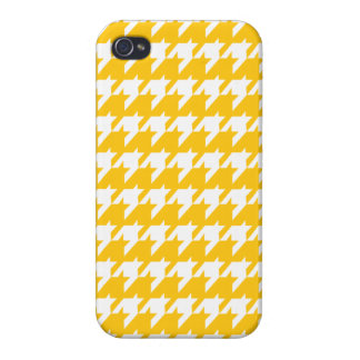 Yellow houndstooth cases for iPhone 4