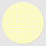 Yellow Houndstooth Stickers