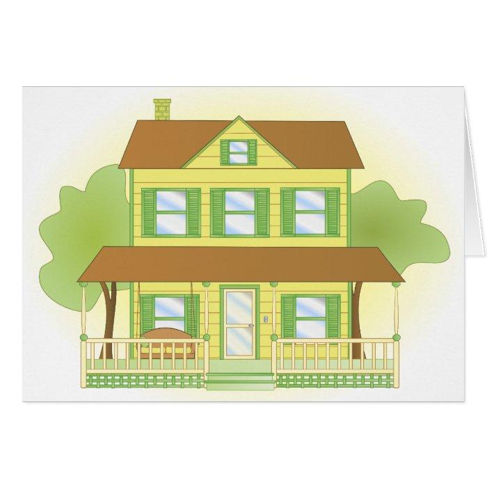 Yellow House Card
