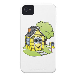 Yellow House Cartoon iPhone 4 Case-Mate Case