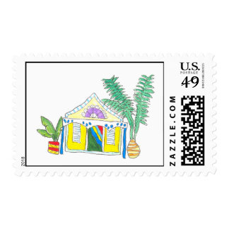Yellow House Custom Postage