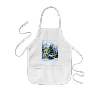 Yellow House in Snow Apron