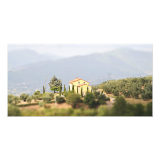 Yellow house in the Tuscany Personalized Photo Card