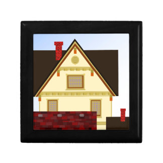 Yellow house keepsake box
