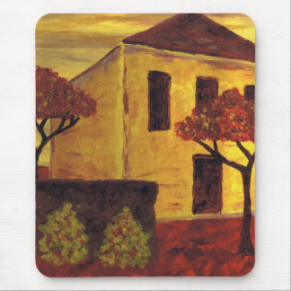 Yellow House Mouse Pad