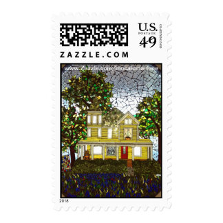 Yellow House on the Prairie Stamp