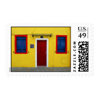 Yellow House Stamp