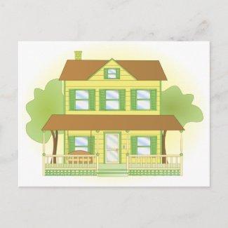 Yellow House postcard