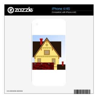 Yellow house iPhone 4 decal